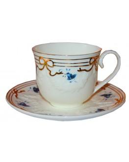 Чашка с блюдцем Винтаж керамическая 250 мл