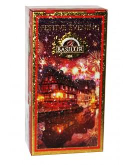 Чай BASILUR Festive Evening Святковий Вечір - Моменти 75 г ж/б (4792252938793)