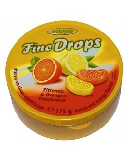 Леденцы FINE DROPS Zitronen Orangen Geschmack Лимон Апельсин 175 г (9002859093173)