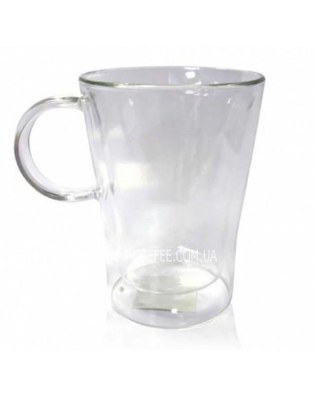 Чашка с двойный дном Латте стеклянная 330 мл