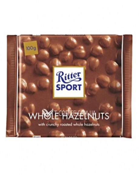 Шоколад Ritter Sport Whole Hazelnuts с Цельными Лесными Орехами 100 г
