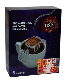 Кофе TREVI Арабика Бразилия Сантос 5 х 8 г дрип-пакет (4820140050989)