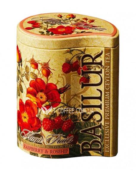 Чай BASILUR Raspberry Rosehip Малина Шиповник - Волшебные Фрукты 100 г ж/б (4792252100626)