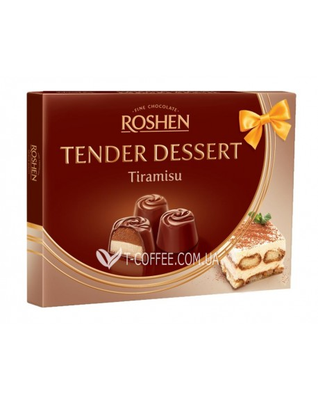 Конфеты Roshen Tender Dessert Tiramisu Тирамису 120 г в коробке