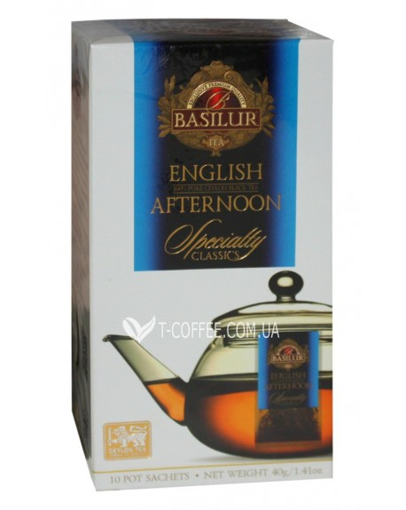 Чай BASILUR English Afternoon Английский Полдник - Избранная Классика 10 х 4 г (4792252932357)