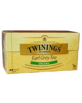 Чай TWININGS Earl Grey ORGANIC Ерл Грей Органик  25 х 2 г