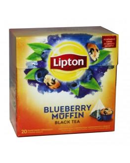 Чай LIPTON Blueberry Muffin Чорничний Мафін 20 х 1,6 г (4823084201219)