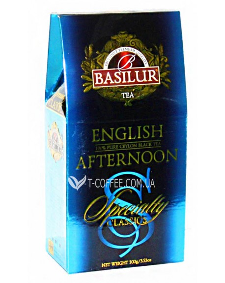Чай BASILUR English Afternoon Английский Полдник - Избранная Классика 100 г к/п (4792252920682)