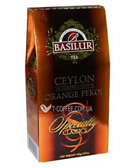 Чай BASILUR Ceylon Orange Pekoe Цейлонский Оранж Пеко - Избранная Классика 100 г к/п (4792252920699)