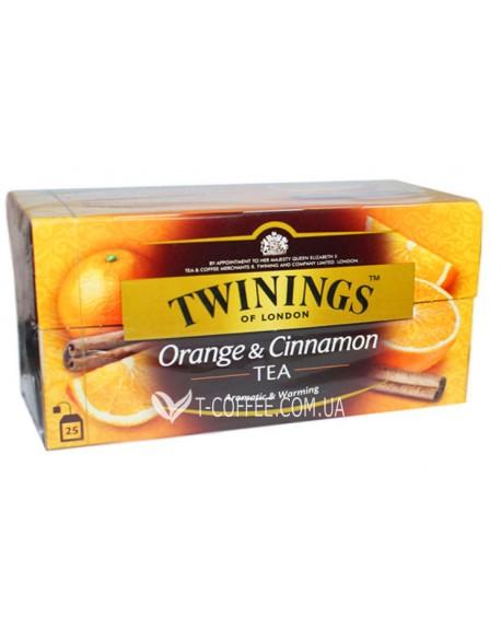 Чай TWININGS Orange Cinnamon Апельсин Корица 25 х 2 г (070177071349)
