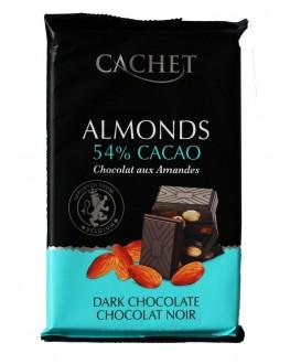 Шоколад CACHET Dark Chocolate Almonds Чорний Мигдаль 300 г (5412956216445)