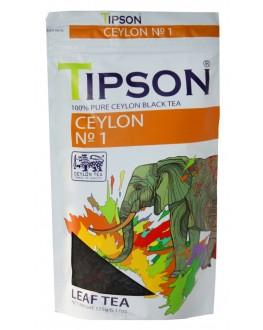 Чай TIPSON Ceylon №1 OPA Цейлонський 175 г ф/п (4792252937383)