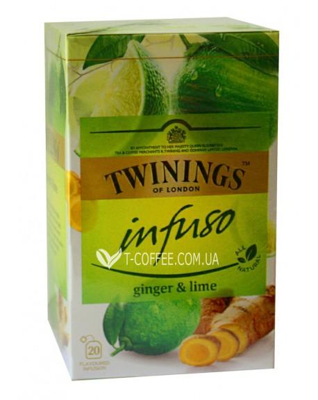 Чай TWININGS Infuso Ginger Lime Имбирь Лайм 20 х 1,5 г (070177177652)