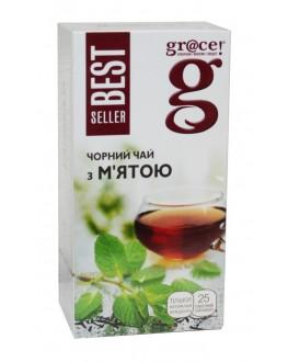 Чай GRACE! Чорний з М'ятою - Бестселер 25 х 2 г (5060207697798)