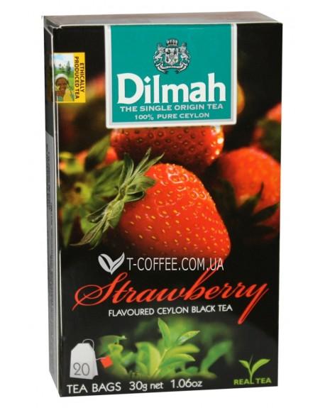 Чай Dilmah Black Tea Strawberry Клубника 20 x 1,5 г (9312631142228)