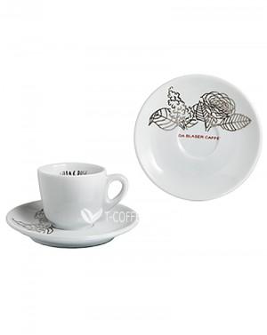Набор чашек с блюдцами для эспрессо Blasercafe Lilla & Rose
