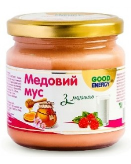 Медовый Мусс с Малиной GOOD ENERGY 200 г (4820175571787)