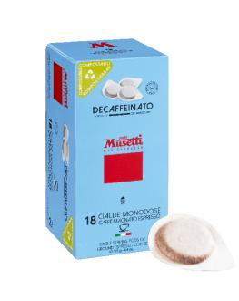 Кофе MUSETTI Decaffeinated без кофеина в монодозах (чалдах, таблетках) 18 х 7 г (8004769255338)