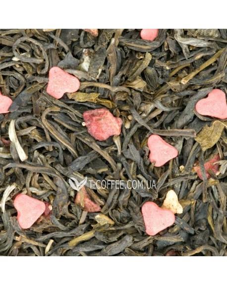 Земляничный Твист зеленый ароматизированный чай Чайна Країна