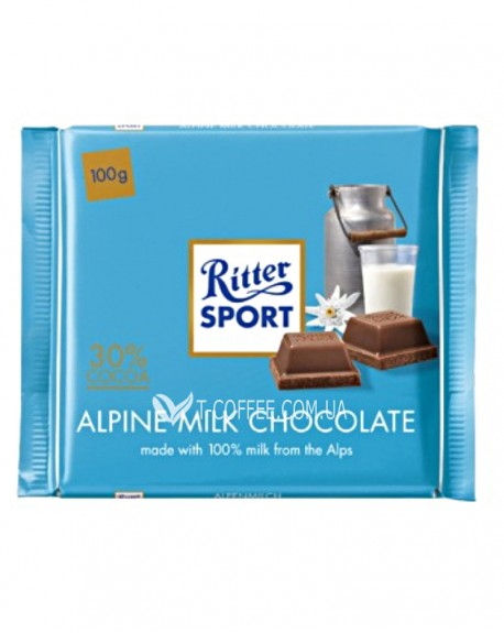 Шоколад Ritter Sport Alpine Milk Chocolate Альпийский молочный 100 г