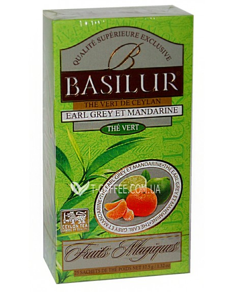 Чай BASILUR Earl Grey Mandarin Эрл Грей Мандарин - Волшебные Фрукты 25 х 2 г (4792252934559)