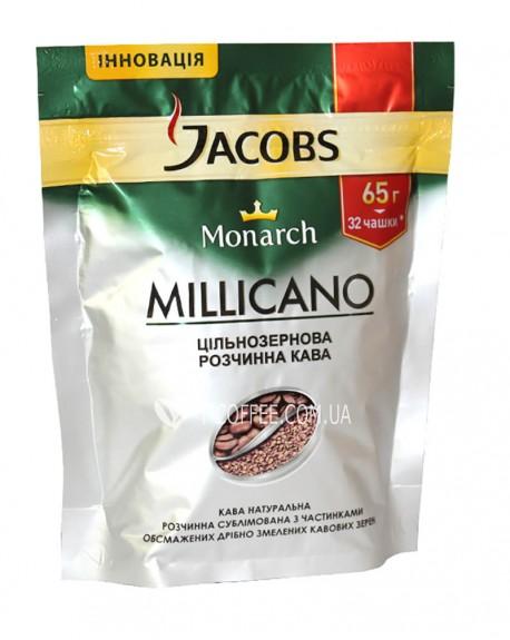Кофе Jacobs Monarch Millicano цельнозерновой растворимый 65 г эконом. пак.