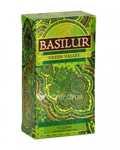 Чай BASILUR Green Valley Зеленая Долина - Восточная 25 х 1,5 г (4792252923614)