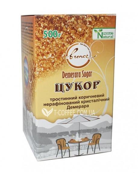 Сахар тростниковый коричневый не рафинированный кристаллический Demerara 500 г