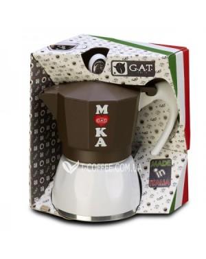 Кофеварка гейзерная GAT GOLOSA coloured induct 6 чашек