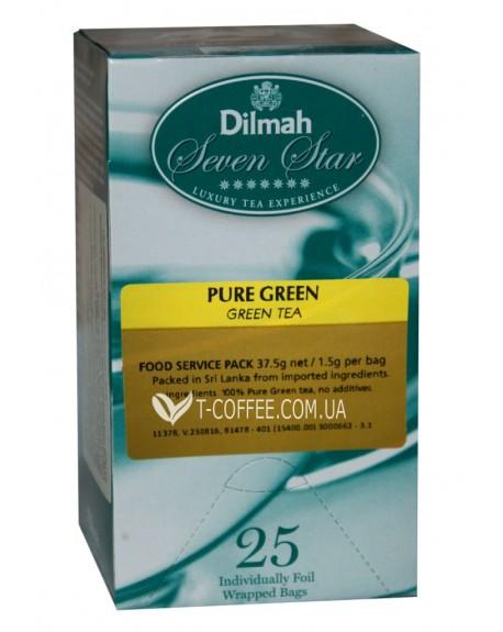 Чай Dilmah Seven Star Pure Green Зеленый 25 x 1,5 г