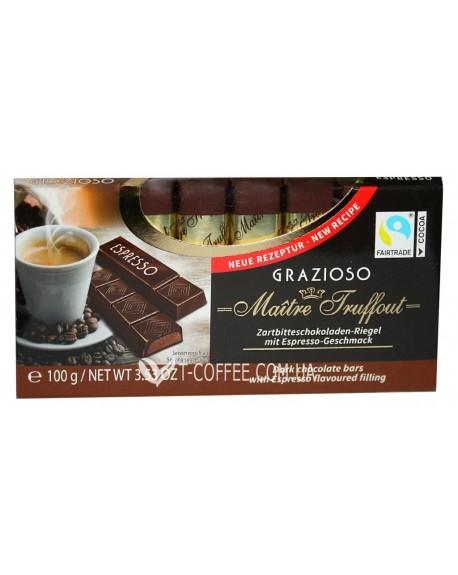 Шоколад Maitre Truffout Grazioso Espresso Эспрессо 8 x 12,5 г (9002859037221)