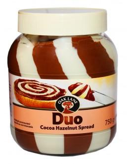 Шоколадно-горіхова паста OAK LANE Duo Cocoa Huzelnut Spread 750 г скл. б. (5051701066999)
