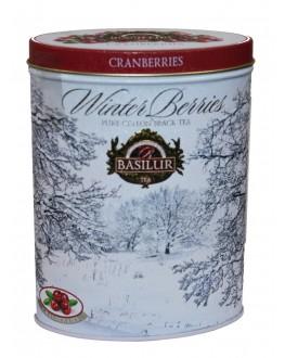 Чай BASILUR Cranberries Журавлина - Зимові Ягоди 100 г ж/б (4792252938755)