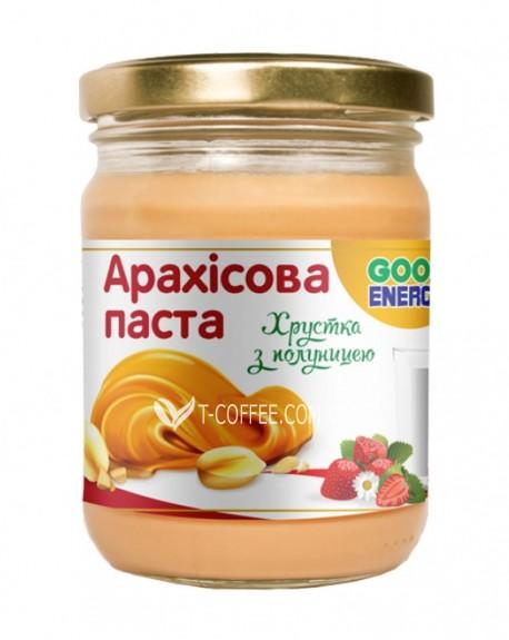Арахисовая паста Good Energy Crunch + клубника 180 г