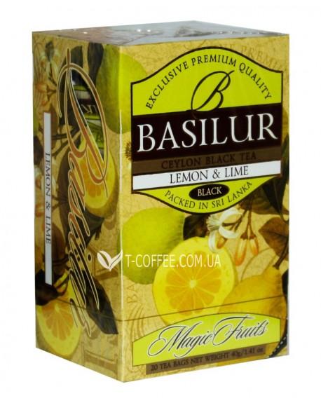 Чай BASILUR Lemon Lime Лимон Лайм - Волшебные Фрукты 20 х 2 г (4792252001077)