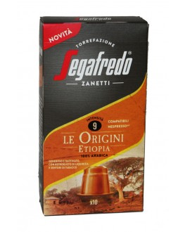 Кофе SEGAFREDO Nespresso Le Origini Etiopia в капсулах 10 х 5,1 г (8003410248453)