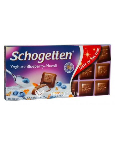 Шоколад Schogetten Yoghurt-Blueberry-Muesli Йогурт Черника Мюсли 100 г (4000415025304)