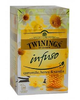 Чай TWININGS Infuso Camomile Honey Vanilla Ромашка Мед Ваніль 20 х 1,5 г (070177177683)