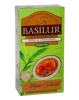 Чай BASILUR Apple Cinnamon Яблуко Кориця - Чарівні Фрукти 25 х 1,5 г (4792252934610)
