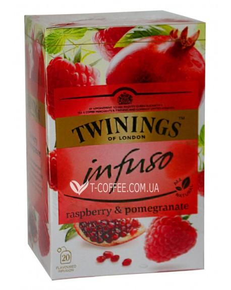 Чай TWININGS Infuso Raspberry Pomegranate Малина Гранат 20 х 2 г (070177177607)