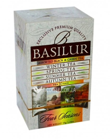 Чай BASILUR Assorted Four Seasons Ассорти - Времена Года 20 х 2 г (4792252916227)