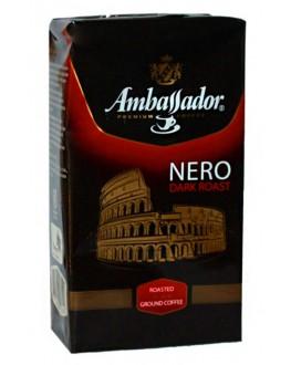 Кава AMBASSADOR Nero мелена 225 г (8718868866653)