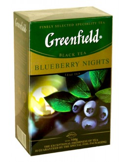 Чай GREENFIELD Blueberry Nights Черника 100 г к/п (4823096802428)