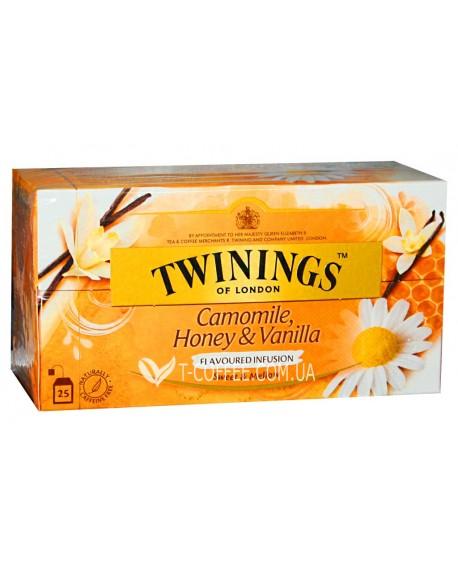 Чай TWININGS Camomile Honey Vanilla Ромашка Мед Ваниль 25 х 1,5 г (070177084110)