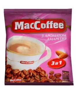 Кофе MACCOFFEE 3в1 Amaretto Амаретто растворимый 20 х 18 г эконом.пак. (8887290109888)