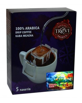 Кофе TREVI Арабика Кения 5 х 8 г дрип-пакет (4820140051016)