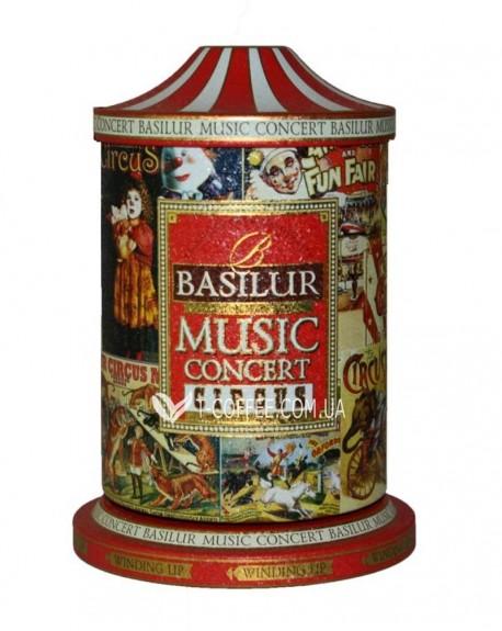 Чай BASILUR Музыкальная Шкатулка Circus Цирк - Праздничная 100 г ж/б (4792252925564)