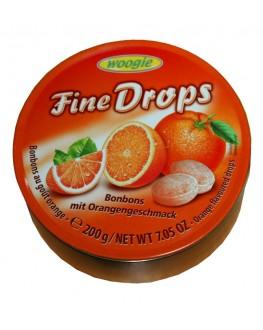 Леденцы FINE DROPS Bonbons Orangen Geschmack Апельсин 200 г (9002859090530)