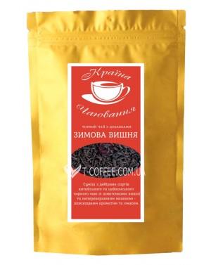 Зимняя Вишня черный ароматизированный чай Країна Чаювання 100 г ф/п