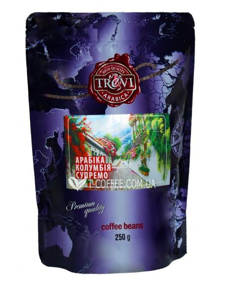 Кофе Trevi Арабика Колумбия Супремо зерновой 250 г (4820140050767)